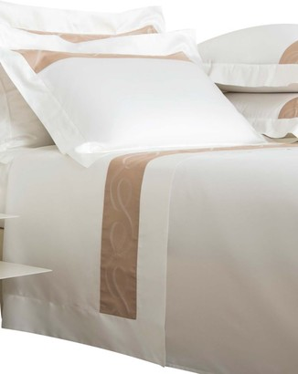 Frette Ribbons Bordo 300 Thread Count Cotton Sateen 4-Piece Sheet Set