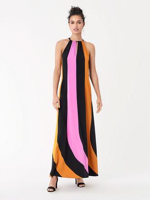 Diane von Furstenberg Kristine Silk Crepe de Chine Halterneck Gown