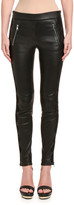 Alexander McQueen Leather Zip-Pocket Leggings