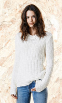 Again Collection - Seven And Seven White Sweater in White