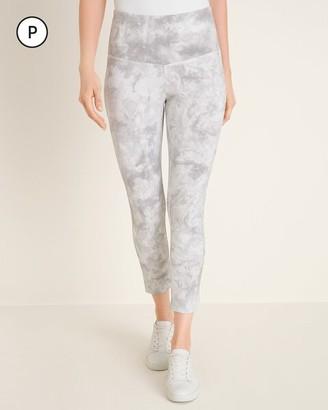 Zenergy So Slimming Petite Supima Cotton-Blend Cloud-Print Crop Leggings