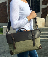 Olive & Black Edinburgh Leather Messenger Bag