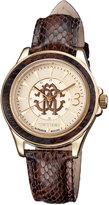 Roberto Cavalli 37mm Yellow Golden Stainless Steel Bracelet Watch