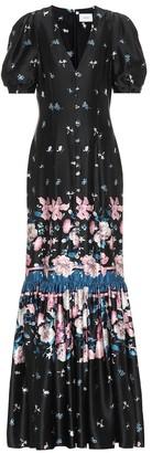 Erdem Rosetta floral silk-satin gown