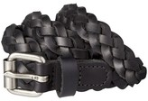 Mossimo Women's Braided Black Leather Belt with Silver Buckle