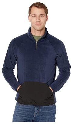 Threads 4 Thought Gavin Polar Fleece Mock Neck (Night Sky) Men's Clothing