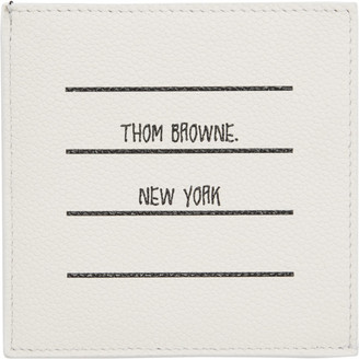 Thom Browne White Paper Label Single Card Holder