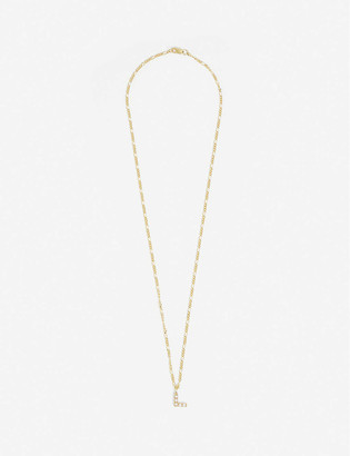 Otiumberg Figaro alphabet L pearl and 9ct gold chain necklace