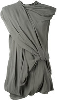 Rick Owens drape dress - women - Silk/Cotton/Spandex/Elastane - 44
