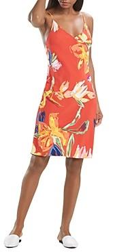 Natori Kira Floral Print Slip Nightgown
