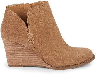 Lucky Brand Yimmie Suede Wedge Booties