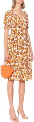 Idris floral crepe midi dress