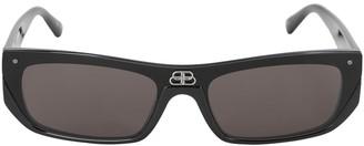 Balenciaga 0080s Shield Rectangle Sunglasses