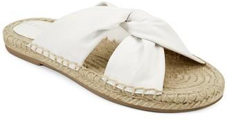 Aerosoles Paramus Leather Espadrille Slide Sandal