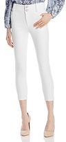 Alice + Olivia Quinn Cropped Jeans in White