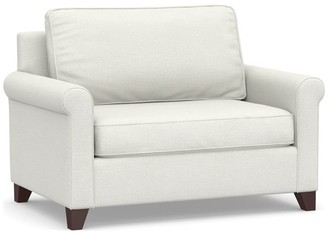 Pottery Barn Cameron Roll Arm Upholstered Twin Sleeper Sofa with Air Topper