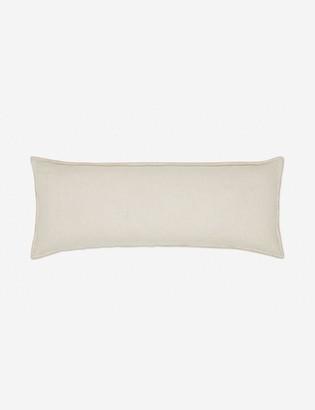 Lulu & Georgia Arlo Linen Long Lumbar Pillow, Light Natural