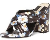Dorothy Perkins Womens Online Exclusive 'Sydney' Floral Cross Over Mules- Multi Colour