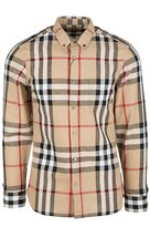 Burberry men's long sleeve shirt dress shirt elfords US size 4022072