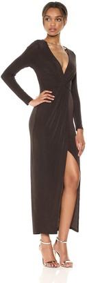 ASTR the Label Women's Haley Stretch Draped Bodycon Wrap Dress