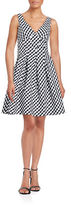 Betsey Johnson Checkered Fit-and-Flare Dress
