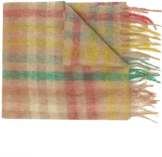 Forte Forte Felted Check Scarf