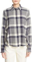 ADAM by Adam Lippes Women's Plaid Wool Trapeze Shirt