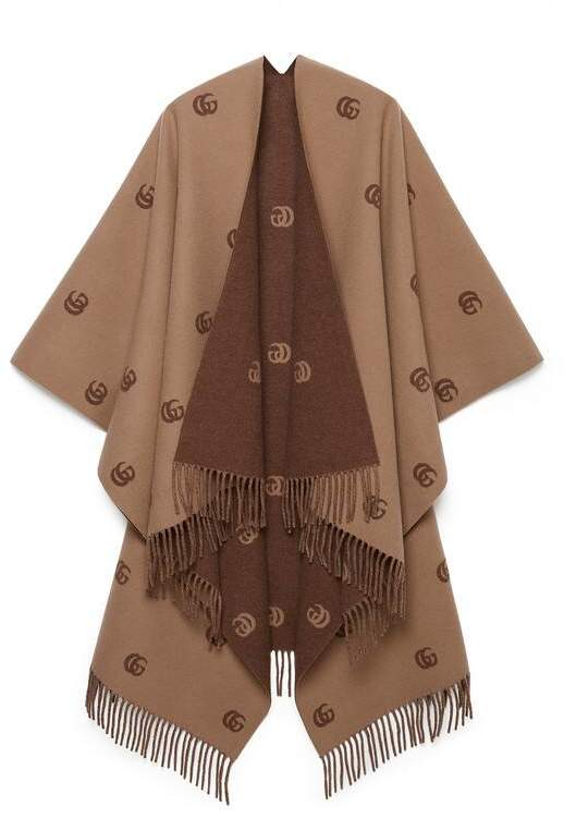Gucci Reversible poncho with Double G pattern