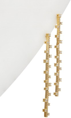 Alanna Bess Limited Collection 14K Over Silver Cz Zig Zag Earrings