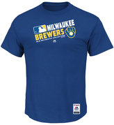 Majestic Men's Milwaukee Brewers Authentic Collection Choice T-Shirt