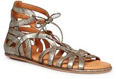 Gentle Souls Break My Heart Metallic Lace Up Sandals