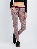Charlotte Russe Marled French Terry Jogger Pants