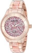 Invicta Women's Angel Rose Gold-Tone Steel Bracelet & Case Quartz Analog Watch 24663