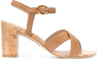 Stuart Weitzman Cork Heel Sandals
