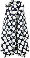 Awake draped polka dot skirt