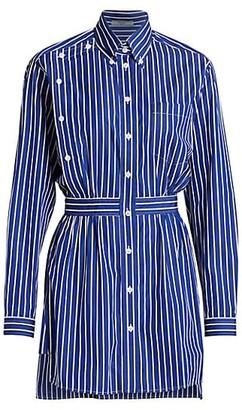Prada Poplin Striped Shirt Dress