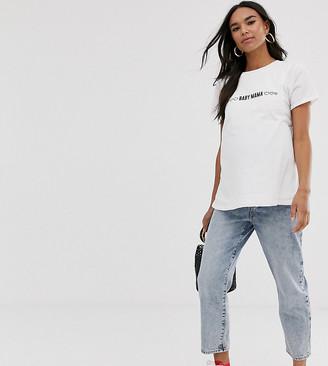 Asos Maternity   Nursing ASOS DESIGN Maternity nursing t-shirt with baby mama slogan