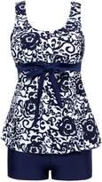 Wantdo Women's Cover Up Swimsuit Two-Piece Swim Suit Push Up Dress Swimwear