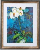 Kaleidoscope Blue Phalaenopsis Framed Print