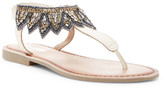 Mia Sara London Bead Detail Ankle T-Strap Sandal