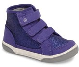 Stride Rite Infant Girl's Ellis Glitter High Top Sneaker