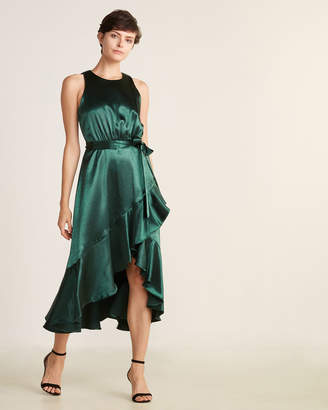 Taylor Satin Ruffle Dress