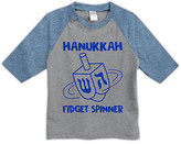 Urban Smalls Heather Blue & Gray 'Fidget Spinner' Raglan Tee - Toddler & Kids