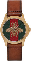 Gucci Brown Medium G-Timeless Bee Watch