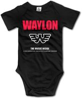 CYSKA Fashion Waylon Singer Jennings Short Sleeve Romper Jumpsuit For 6- Infant