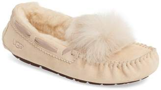 UGG Dakota Water Resistant Genuine Sheepskin Pompom Slipper