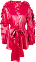 Ellery ruffled sleeve jacket - women - Polyester/Acetate - 8