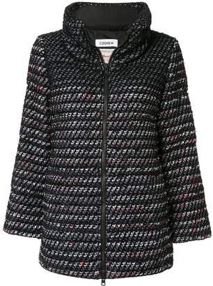 Coohem velvet tweed jacket