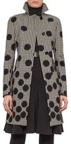Akris Punto Houndstooth & Dot Print Coat