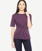 Ann Taylor Knotted Elbow Sleeve Top